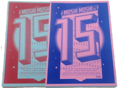 Moshi Moshi 15th Birthday Screen Print main photo