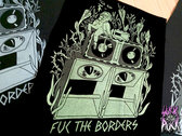 "Screen-printed DIY textile ""FUK THE BORDERS"" patch. (36x27sm) photo"