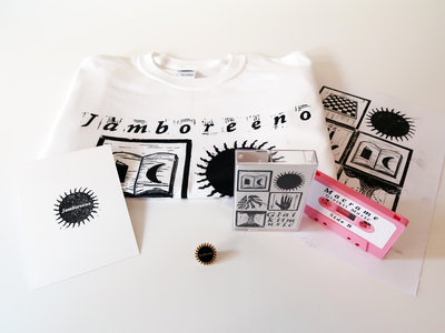 £18 Bundle: Any Cassette + T-shirt + A4 Print + Pin Badge + Postcard main photo