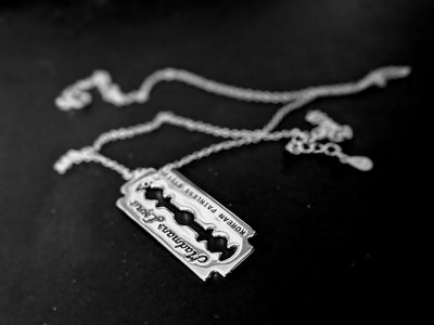 limited 925 sterling silver razor blade necklace main photo