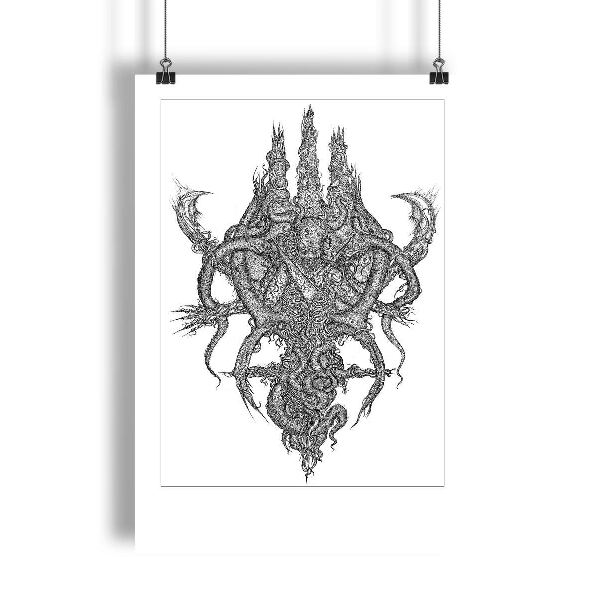 VON - Dark Gods: Sigil of Death Illustrated Giclée Print | VON
