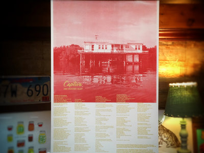FISH HOUSE   Two-Color Screenprint Lyric Poster main photo