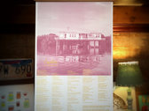 FISH HOUSE   Two-Color Screenprint Lyric Poster photo