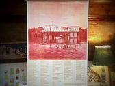 PALMS + FISH HOUSE | Watercolor Wash + Screenprint Lyric Posters photo