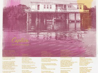 PALMS + FISH HOUSE | Watercolor Wash + Screenprint Lyric Posters main photo