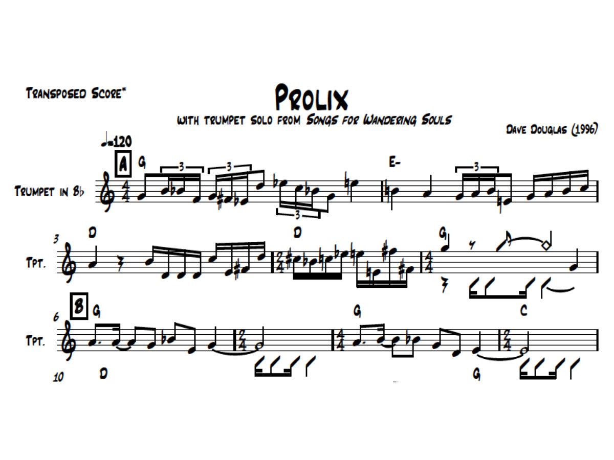 Dave Douglas | Tiny Bell Trio | Sheet Music | Concert (PDF