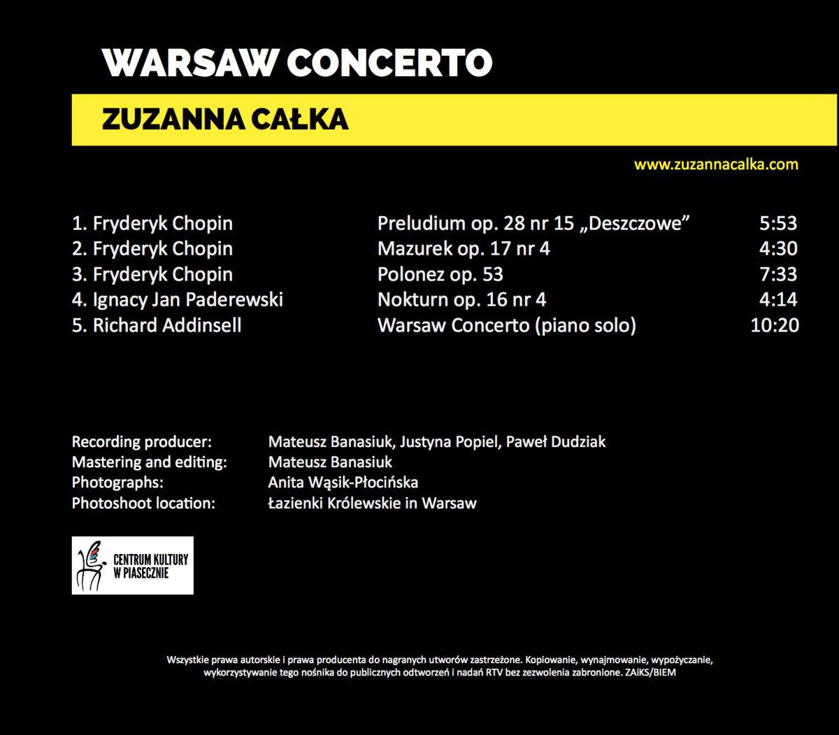 Warsaw Concerto   Zuzanna Całka