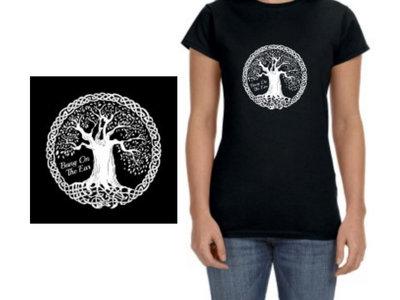 Womans Celtic Tree T-Shirt Black main photo