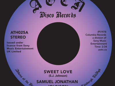 Samuel Jonathan Johnson  - Sweet Love main photo