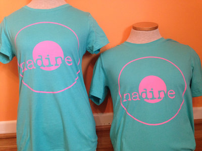 Nadine Records T-Shirt (Pink Ink on Teal Shirt) main photo