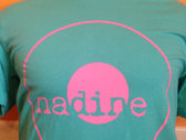 Nadine Records T-Shirt (Pink Ink on Teal Shirt) photo