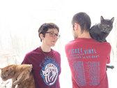 """50 States in 45 Days"" Flaming Cat shirt photo"