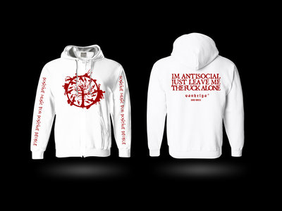 HOODIE 'Antisocial' WHITE [limited to 4 copies] main photo