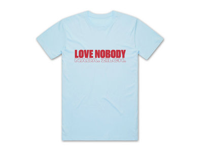 LOVE  NOBODY T-SHIRT - BLUE main photo