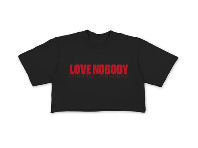 LOVE NOBODY CROP TEE - BLACK main photo