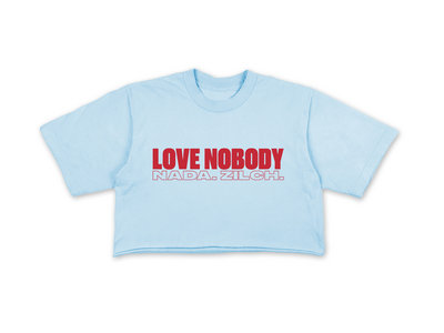 LOVE NOBODY CROP TEE - BLUE main photo