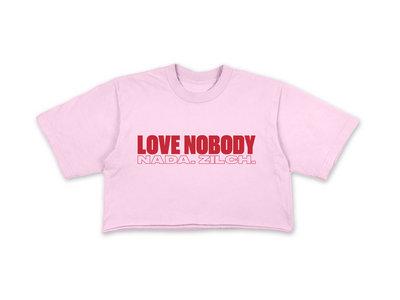 LOVE NOBODY CROP TEE - PINK main photo