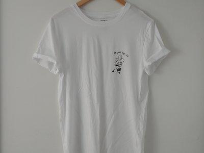 black design on white t-shirt main photo