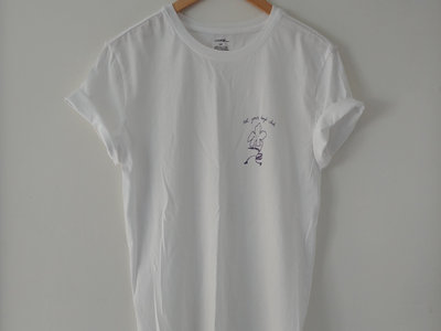 lavender design on white t-shirt main photo