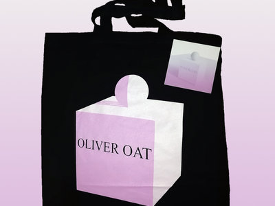 Black cotton tote bag with logo main photo