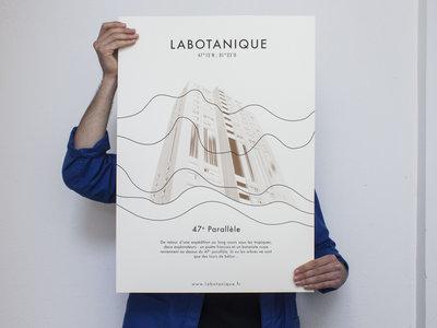 """Sérigraphie : """"Voyage au dessus du 47e Parallèle"""" main photo"""