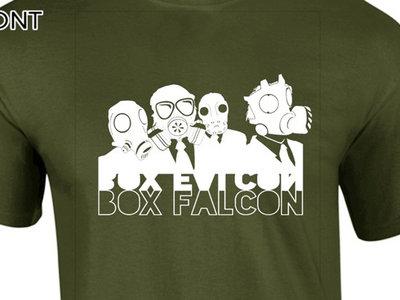 Box Falcon - Men's Tee (Army Green Gas Mask) main photo