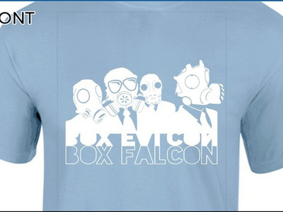 Box Falcon - Men's Tee (Light Blue Gas Mask) main photo