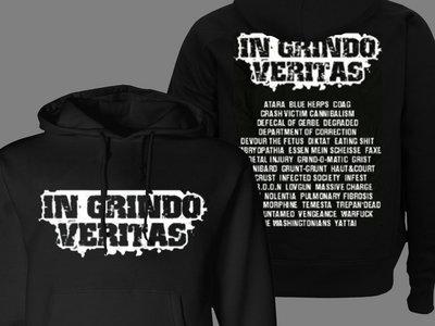 """In Grindo Veritas"" Hooded Sweat Shirt main photo"