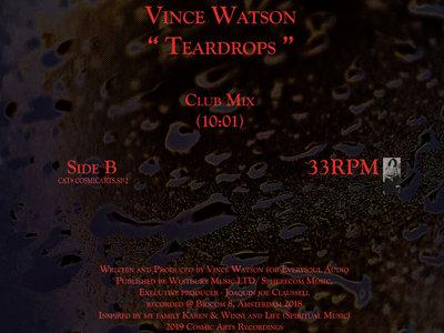 """Vince Watson's """" Teardrops """" 12inch Vinyl New Release main photo"""