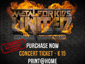 """Ticket/Biglietto - Metal For Kids. United! All-Star Charity Jam - 25/05/2019 - includes a """"free download"""" of 1 live song taken from MFK 2016 photo"""