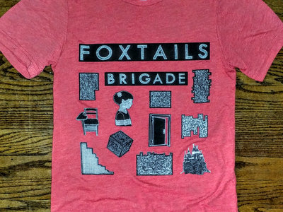 Foxtails Brigade T-Shirt in Red Fleck main photo
