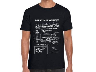 Agent Side Grinder - Side Grinder T- Shirt - Men or Women Black main photo