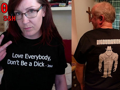 T-Shirt: Love Everybody And Don't Be a Dick- Jesus main photo