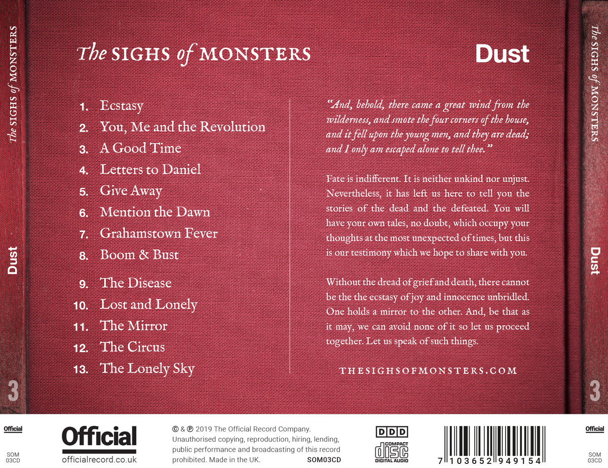 Dust   The Sighs of Monsters