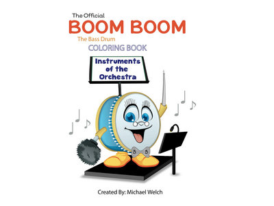 Boom Boom the Bass Drum - Instruments of the Orchestra - Coloring Book main photo