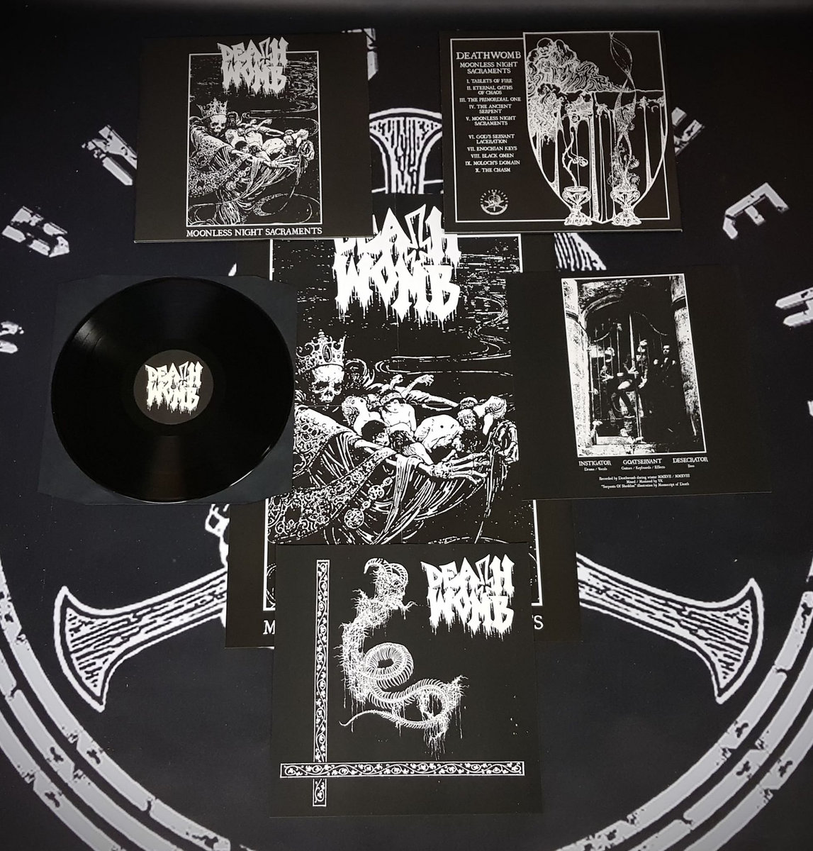 Deathwomb - Moonless Night Sacraments   Iron Bonehead Productions