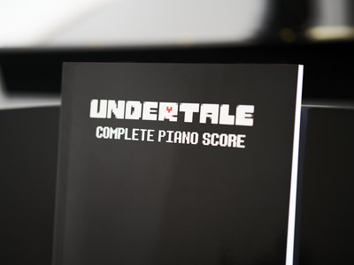 UNDERTALE Complete Piano Score (Physical Sheet Music Book) main photo