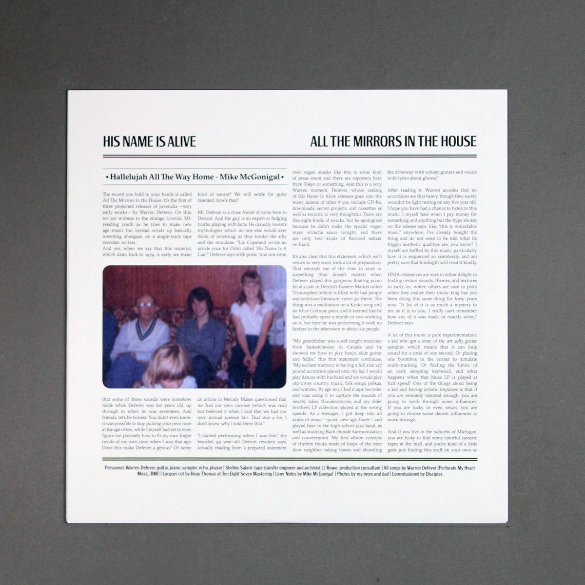 All The Mirrors In The House (Early Recordings 1979 - 1986