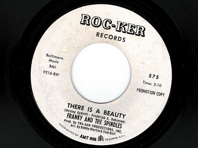 THERE IS A BEAUTY - FRANKIE & THE SPINDLES - PROMO VG+ main photo