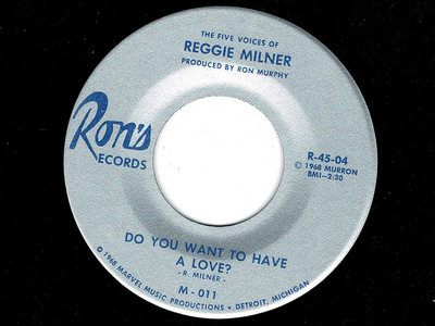 DO YOU WANT TO HAVE A LOVE - REGGIE MILNER - NM CHERRY main photo