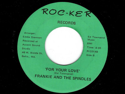 FOR YOUR LOVE - FRANKIE & THE SPINDLES - NM main photo