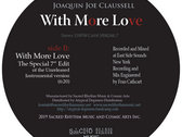 """With More Love - 7"""" Red Vinyl Release. REPRESS. NO JACKETS- SOLD OUT photo"""