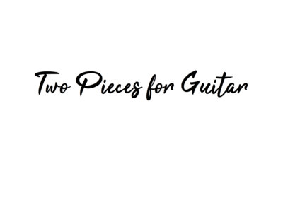 Two Pieces for Guitar main photo