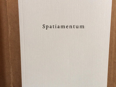 Spatiamentum - book launch edition main photo