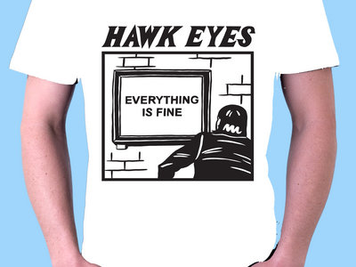 Everything Is Fine cartoon T-Shirt - Black or White main photo