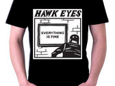 Everything Is Fine cartoon T-Shirt - Black or White photo