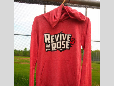 Revive the Rose - Unisex Red Pullover Hoodie main photo