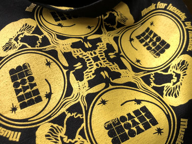 """Yellow-on-Black BBiB """"Beyond Your Face"""" Tote Bag main photo"""