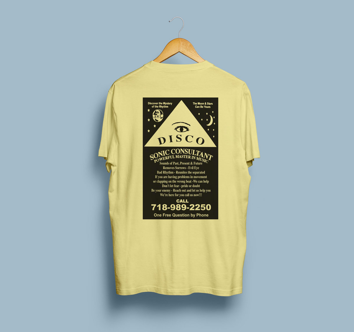 628fec9e Disco Psychic Summer Style Tee - Banana Cream | Razor-N-Tape