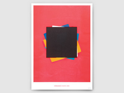 'Hidden Lines' - Risograph Print (Limited Edition) main photo